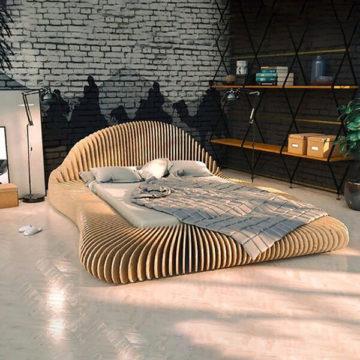 Параметрическая кровать Shell