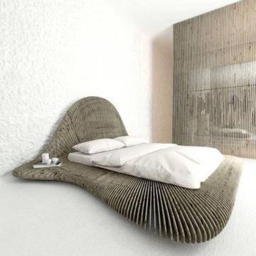 Параметрическая кровать Shell 2