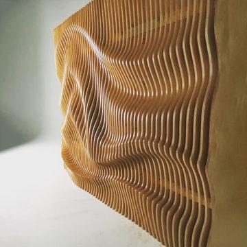 Параметрическое панно Wave 2