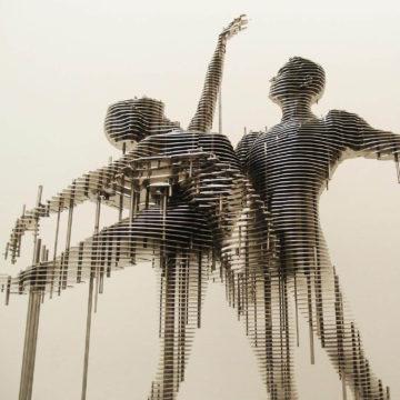 Параметрическая скульптура Swan Lake