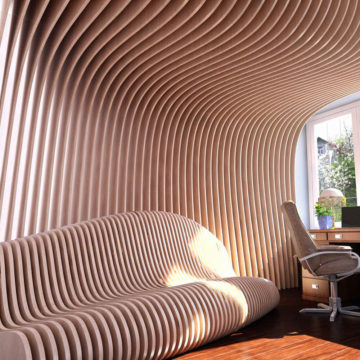 Параметрический диван Bend 2